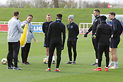 England assistant manager Steve Holland in discussion during England's Euro 2020 Qualifier training session at St George's Park National Football Centre, Burton-Upon-Trent, United Kingdom on 23 March 2019.