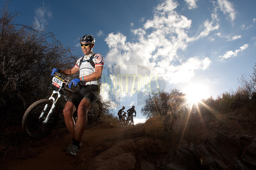Christiaan Beyers of Saudi Arabia during the (time trial) stage five of the 2010 Absa Cape Epic Mountain Bike stage held in Worcester in the Western Cape, South Africa on the 25 March 2010.Photo by Nick Muzik/SPORTZPICS