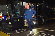 Middlesbrough manager Tony Pulis gets off the team bus on arrival before the The FA Cup match between Newport County and Middlesbrough at Rodney Parade, Newport, Wales on 5 February 2019.