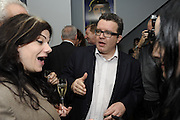 CAITLIN MORAN; TOM WATSON, The 2011 Groucho Club Maverick Award. The Groucho Club. Soho, London. 14 November 2011. <br /> <br />  , -DO NOT ARCHIVE-© Copyright Photograph by Dafydd Jones. 248 Clapham Rd. London SW9 0PZ. Tel 0207 820 0771. www.dafjones.com.