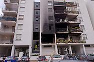 Roma, 20 Gennaio  2015<br /> Un morto e numerosi feriti per l'esplosione di una bombola del gas in un appartamento vuoto al primo piano dello stabile di via Giuseppe Galati 54, nel quartiere Colli Aniene, alla periferia est di Roma. Ricercata dalla polizia, l'inquilina 82enne, che aveva ricevuto l'ingiunzione di sfratto e sembra che aveva minacciato di far saltare in aria la casa.<br /> Rome, January 20, 2015<br /> One dead and many wounded by the explosion of a gas cylinder in an empty apartment on the first floor of the building in Via Giuseppe Galati 54, in the district Colli Aniene, in the eastern outskirts of Rome. Wanted by the police, tenant a woman of 82 year, who  had received an order of eviction and that it seems that he had threatened to blow up the house.