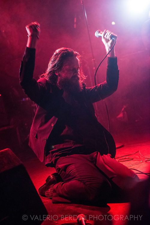 Father John Misty playing at the Cambridge Junction on 27 october 2015. This photo has been printed on the Guardian online on 1 Nov 2015 http://www.theguardian.com/music/2015/nov/01/father-john-misty-review-i-am-the-resurrection-josh-tillman