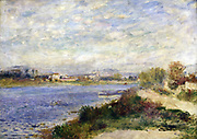 The Seine at Argenteuil' 1873:  Pierre August Renoir (1841-1919) French painter . Oil on canvas.