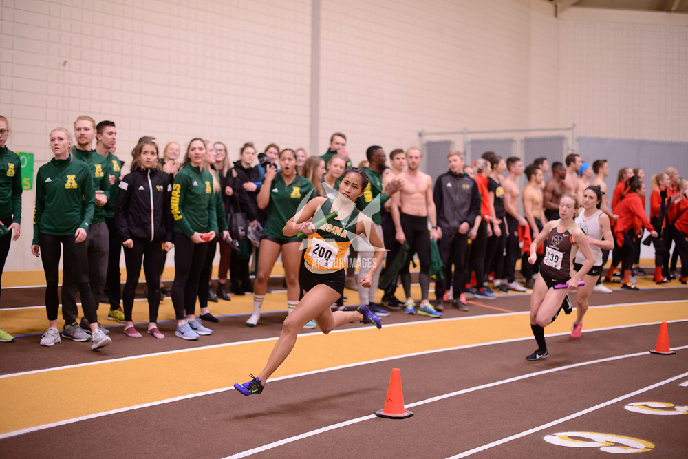 Geselle Dela Merced in action during the 2018 Canada West Track & Field Championship on February  24 at James Daly Fieldhouse. Credit: Arthur Ward/Arthur Images