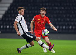 DERBY, ENGLAND - Monday, November 28, 2016: Liverpool's Joe Maguire in action against Derby County during the FA Premier League 2 Under-23 match at Pride Park. (Pic by David Rawcliffe/Propaganda)