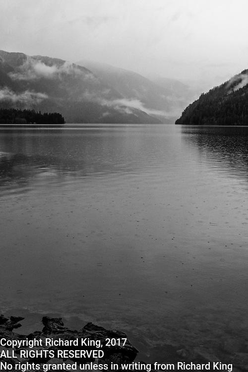 Winter Landscape photographs of Crescent Lake, Olympic National Park, WA, USA