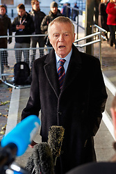 © Licensed to London News Pictures.  29/11/2012. LONDON, UK. Max Mosley (pictured) speaks to the media outside QE2 hall following the announcement of the Leveson Inquiry this afternoon. Photo credit :  Cliff Hide/LNP