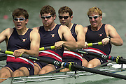 2003 - FISA World Cup Rowing Milan Italy.30/05/2003  - Photo Peter Spurrier.USA M4-  (B) Jeffrey Klepacki, Brian McDonough, Danial Walsh and Mark Flickinger [Mandatory Credit: Peter Spurrier:Intersport Images]