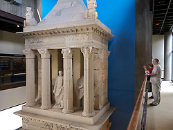 The Sepulcher of Poblicius at the Roman-Germanic Museum in Cologne Germany