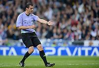 FUSSBALL   CHAMPIONS LEAGUE SAISON 2011/2012  HALBFINALE  RUECKSPIEL      Real Madrid - FC Bayern Muenchen           25.04.2012 Schiedsrichter  Viktore Kassai