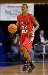 February 27, 2010; San Jose, CA, USA;  Fresno State Bulldogs guard Brandon Sperling (32) during the second half against the San Jose State Spartans at The Event Center.  San Jose State defeated Fresno State 72-45.
