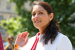 © Licensed to London News Pictures. 23/07/2019. London, UK. Priti Patel outside QEII Centre after Boris Johnson elected as leader of the  Conservative Party and the new British Prime Minister. Dinendra Haria/LNP