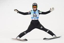 February 8, 2019 - Ursa Bogataj of Slovenia on first competition day of the FIS Ski Jumping World Cup Ladies Ljubno on February 8, 2019 in Ljubno, Slovenia. (Credit Image: © Rok Rakun/Pacific Press via ZUMA Wire)
