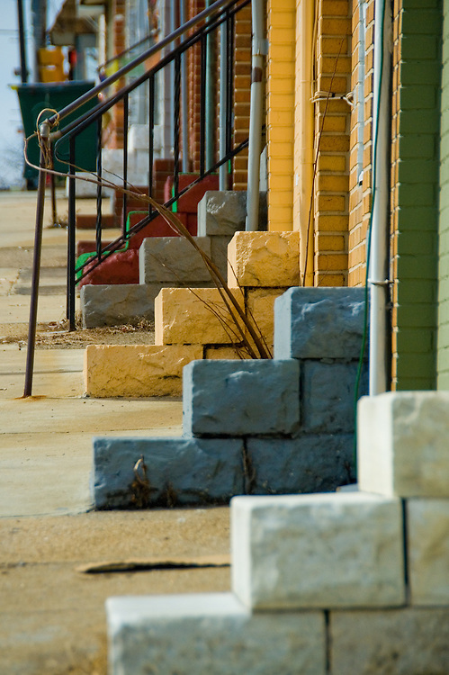 Steps in the Hampden neighborhood of Baltimore City.