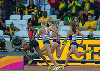 Athletics - 2017 IAAF London World Athletics Championships - Day Seven, Evening Session<br /> <br /> Womens 5000m Round One<br /> <br /> Eilish McColgam (Great Britain) forces heself through down the home straight at the London Stadium<br /> <br /> COLORSPORT/DANIEL BEARHAM