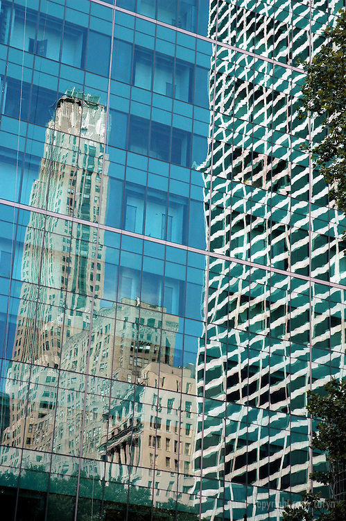 Glass building reflection