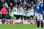 Derby County striker Chris Martin scores from the penalty spot during the EFL Sky Bet Championship match between Derby County and Blackburn Rovers at the Pride Park, Derby, England on 8 March 2020.