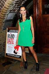 Mariama Goodman during Blind Date - press night, Charing Cross Theatre,  London, United Kingdom, 04 June 2013. Photo by Chris Joseph / i-Images.
