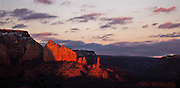 deep velvet sunset in Sedona Arizona