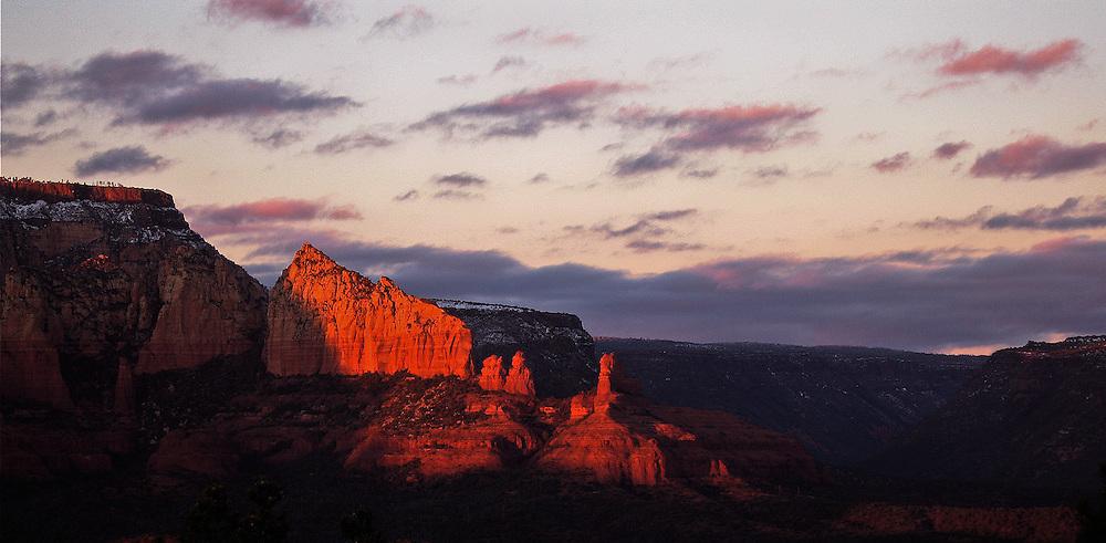 deep velvet sunset in Sedona Arizona