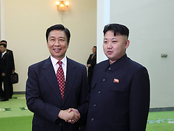 60197077  <br /> Kim Jong Un (R), top leader of the Democratic People s Republic of Korea (DPRK), meets with visiting Chinese Vice President Li Yuanchao in Pyongyang, July 25, 2013. Li arrived here earlier in the day to pay a visit to the DPRK and to attend activities marking the 60th anniversary of the Korea War Armistice. <br /> Thursday, 25th July 2013<br /> Picture by imago / i-Images<br /> UK ONLY