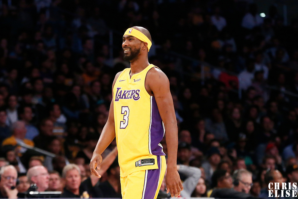 02 October 2017: Los Angeles Lakers guard Corey Brewer (3) is seen during the Denver Nuggets 113-107 victory over the LA Lakers, at the Staples Center, Los Angeles, California, USA.