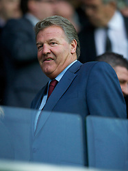 SWANSEA, WALES - Monday, May 15, 2011: Former Wales and Swansea City manager John Toshack MBE during the Football League Championship Play-Off Semi-Final 2nd Leg match against Nottingham Forest at the Liberty Stadium. (Photo by David Rawcliffe/Propaganda)