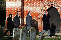© under license to London News Pictures.  19/11/10..Close family and friends of murdered millionairess Joanna Brown, 46, arrive at the church for Joanna's memorial service,  St Mary's Church, Church Road, Winkfield, Berkshire. Joanna's body was found in woodland in Windsor Great Park on November 5th. Her husband, Robert Brown, also 46, has been charged with her murder. ..Picture credit should read: Rebecca Mckevitt/London News Pictures