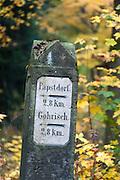steinerner Wegweiser, Sächsische Schweiz, Elbsandsteingebirge, Sachsen, Deutschland | stone sign post, Saxon Switzerland, Saxony, Germany