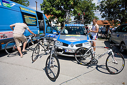 Team Slovenia before start of the 4th stage of Tour de Slovenie 2009 from Sentjernej to Novo mesto, 153 km, on June 21 2009, Slovenia. (Photo by Vid Ponikvar / Sportida)