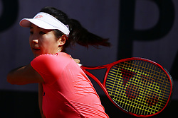 May 23, 2019 - Paris, France - Zhang Kai-Lin of China hits a return during her women's singles against Bernadda Pera of USA in the second round of the qualifications of Roland Garros, in Paris, France, on 23 May 2019. (Credit Image: © Ibrahim Ezzat/NurPhoto via ZUMA Press)