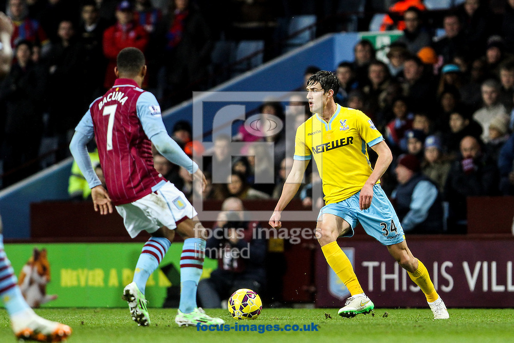 Martin Kelly of Crystal Palace (right) during the Barclays Premier League match at Villa Park, Birmingham<br /> Picture by Andy Kearns/Focus Images Ltd 0781 864 4264<br /> 01/01/2015