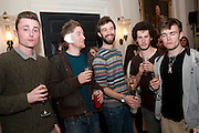 SAM ROWE WITH EAR INJURY; ST. SPIRIT, Dazed & Confused 20th Anniversary Exhibition. Somerset House. London. 3 November 2011<br /> <br />  , -DO NOT ARCHIVE-© Copyright Photograph by Dafydd Jones. 248 Clapham Rd. London SW9 0PZ. Tel 0207 820 0771. www.dafjones.com.