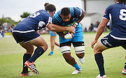 Patrick Tuipulotu during a pre season Super Rugby match. Blues v Storm, Pakuranga Rugby Club, Auckland, New Zealand. Thursday 4 February 2016. Copyright Photo: Andrew Cornaga / www.Photosport.nz