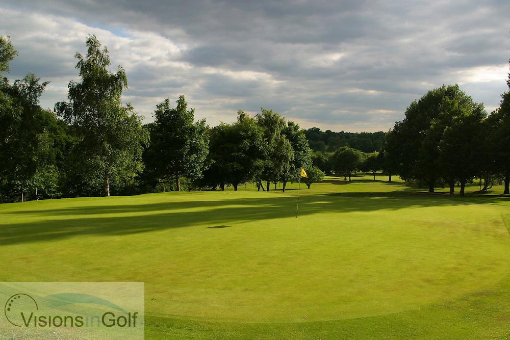 16th hole, par 3, Sundridge Park GC, West Course, Bromley, Kent. <br /> <br /> Photo Mark Newcombe / visionsingolf.com