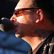 Mike Ness performing at Hootenanny 2008 in Orange County, California, USA