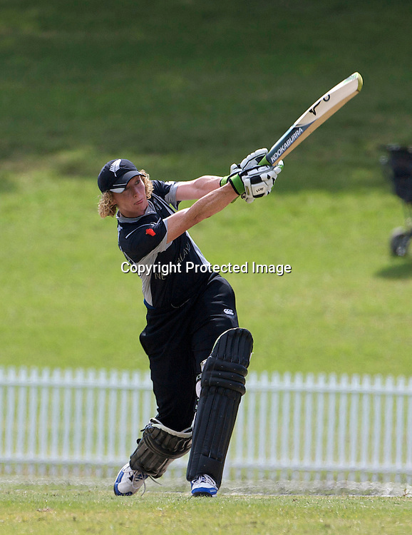 Sydney-March 19:  Haidee Tiffen batting towards 100 runs during the match between New Zealand and Pakistan in the Super 6 stage of the ICC Women's World Cup Cricket tournament at Drummoyne Oval, Sydney, Australia on March 19, 2009 New Zealand made 373 for 7. Photo by Tim Clayton.