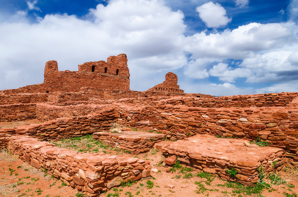 San Gregorio Church at Abo Ruins, Salinas Pueblo Missions National Monument., New Mexico, USA