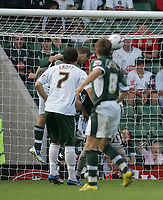 Photo: Lee Earle.<br /> Plymouth Argyle v Norwich City. Coca Cola Championship. 23/09/2006. Plymouth's Marcel Seip heads home their second goal.