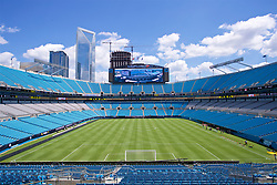 CHARLOTTE, USA - Saturday, July 21, 2018: A general view of the Bank of America Stadium before Liverpool's training session ahead of a preseason International Champions Cup match between Borussia Dortmund and Liverpool FC. (Pic by David Rawcliffe/Propaganda)