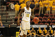 March 3, 2018 - Asheville, North Carolina - U.S. Cellular Center: ETSU guard Jalan McCloud (12)<br /> <br /> Image Credit: Dakota Hamilton/ETSU