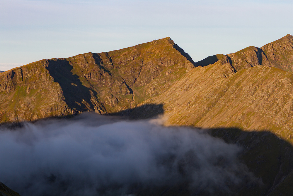 Sunrise over the Beinn Fhada ridgeline in Glenoce
