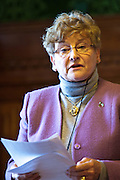 Dorothy Wright, FACKspeaking to members of the Trade Union Coordinating Group meeting in room 14 at the House of Commons , London.