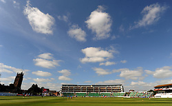 General view of play prior to the start of day four between Somerset at Yorkshire at the County Ground, Taunton. Photo mandatory by-line: Harry Trump/JMP - Mobile: 07966 386802 - 27/05/15 - SPORT - CRICKET - LVCC County Championship - Division 1 - Day 4 - Somerset v Yorkshire - The County Ground, Taunton, England.