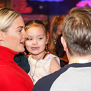 NLD/Amsterdam/20180201 - Presentatie This is Holland, Michelle Splietelhof met partner Tommy Christiaan en dochter lily