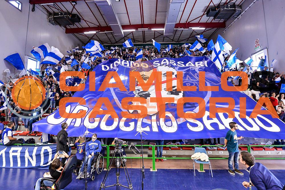 Coreografia Tifosi Dinamo, Commando Ultra' Dinamo<br /> Dinamo Banco di Sardegna Sassari - Sidigas Scandone Avellino<br /> LegaBasket Serie A 2016/2017<br /> Sassari 20/11/2016<br /> Foto Ciamillo-Castoria