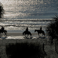 Horseback riders on a South Carolina beach in 2007.