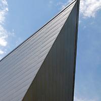 USA, Colorado, Denver. Denver Art Museum architecture.