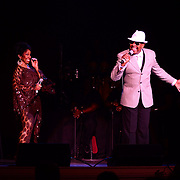 """Gladys Knight performs with her older brother Merald """"Bubba Knight Jr. at The Music Hall in Portsmouth, NH. Oct. 2012."""