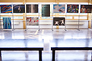 WARSAW, POLAND - APRIL 23: Sportissima - photo exhibition by Adam Nurkiewicz display during science conference The Day of Sport at National Library on April 23, 2016 in Warsaw, Poland.<br /> <br /> Picture also available in RAW (NEF) or TIFF format on special request.<br /> <br /> Any editorial, commercial or promotional use requires written permission from the author of image.<br /> <br /> Adam Nurkiewicz declares that he has no rights to the image of people at the photographs of his authorship.<br /> <br /> Mandatory credit:<br /> Photo by © Adam Nurkiewicz / Mediasport